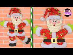 HACER ESQUINEROS DE PUERTA NAVIDEÑOS CON MOLDES :Son realmente increíbles, ¡así que seguramente te enamorarás de uno de ellos! Elf On The Shelf, Santa, Christmas Ornaments, Holiday Decor, Creative, Home Decor, Colorful, Craft, Joy