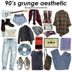 Pin de gabriella sampaio em outfit em 2019 стиль гранж, стиль одежды e мода Grunge Outfits, Diy Outfits, Hipster Outfits, Retro Outfits, Grunge Fashion, Outfits For Teens, Look Fashion, 90s Fashion, Trendy Fashion
