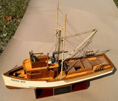 Native Sun 85' trawler — July 2015 - FineScale Modeler - Essential magazine for scale model builders, model kit reviews, how-to scale modeling, and scale modeling products
