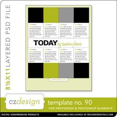 SE/PS Templates » Cathy Zielske's Layered Template No. 90
