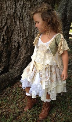 Woodland Fairy Dress//BOHO/Gypsy/Girls Dress//Free the by RainRene, $195.00