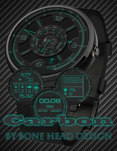 Carbon watch face preview