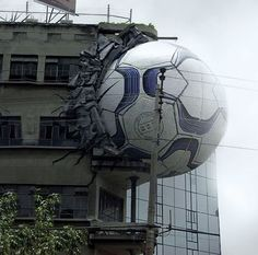Nike ads in bulding #Creative #Idea