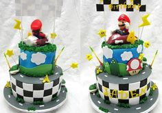 Brady wants to do Mario Kart for his 4th bday....love this cake,