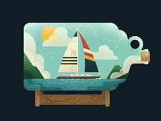 I'd rather be sailing...  MUTI  Cape Town, South Africa  Design studio specialising in illustration, icons, digital painting, typography & animation