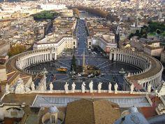 Roma, vista desde la cùpula de la Basílica de San Pedro