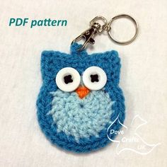 PDF CROCHET PATTERN to make a cute owl key ring / key chain. Could also be used as an applique. Please note - THIS IS A PDF PATTERN, NOT A FINISHED ITEM. Pattern written in US crochet terms, with UK equivalent stitches explained. You cannot sell the pattern itself or claim it as your own, but you may sell items you make from this pattern. An author credit on items you sell is much appreciated. No refunds will be given on patterns once purchased. Very happy to answer any questions yo...