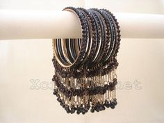 Party Wear Jhumka Bangles - XciteFun.net #bridaljewelleryenglish Hand Jewelry, Trendy Jewelry, Fashion Jewelry, Indian Jewelry Sets, Silver Jewellery Indian, Indian Bangles, Indian Earrings, Silver Jewelry, Bridal Bangles