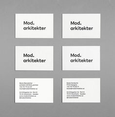 Mod Architects / Visual Identity on Behance