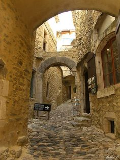 Cobbled Street of Saint-Montan ~