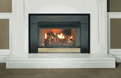 Gas fireplace inserts - Fireplace inserts gas may allow you to take an old, chimney draft drafty and be useful again. The new gas fireplaces on the market Vented Gas Fireplace Insert, Direct Vent Gas Fireplace, Natural Gas Fireplace, Fireplace Inserts, Napoleon Gas Fireplace, Gas Insert, Bay Door, My Dream Home, Glass Door