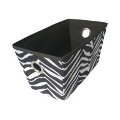Captivating Cute Zebra Storage Bin....Classroom Zebra Theme. Fabric 9.99 Sold At