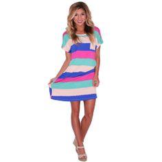 Striped T-Shirt Dress | Impressions #shopimpressions #impressionsonlineboutique #impressions @Impressions Online Boutique @Impressions Online Boutique