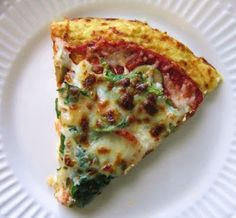 Carb Free, Low Calorie Pizza -- califlower crust, low cal veges