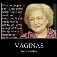 True. You have to love Betty, besides being an incredibly strong woman, she's also an active animal advocate!  You go girl!