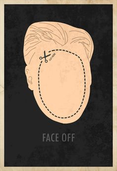 Face off minimalist movie poster