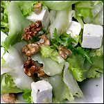 Recetas de cocina faciles y ligeras: Escarola con pera y queso Feta
