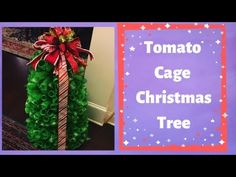 Learn to make a Christmas tree with lights from a tomato cage base. Learn to make a tree topper bow for your Christmas tree See below for more 🔽 My Etsy Shop. Mesh Christmas Tree, Christmas Crafts, Christmas Decorations, Christmas Ornaments, Tree Topper Bow, Tree Toppers, Christmas Flower Arrangements, Deco Wreaths, Tomato Cages