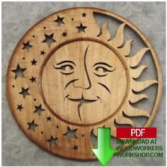 48-SLDK160+-+Sun+and+Moon+Self+Framing+Plaque+Downloadable+Scrollsaw+Pattern+PDF