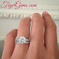 🌸 The 2.5 carat solitaire accented wedding set with a 2 carat center. 🌸 Shop now at TigerGems.com 🌸 ✨  #handmade #diamondring #manmadediamond #proposal #bride #groom #paris #engagementring #mermaid #birthdaygirl #fitness #hawaii #taylorswift #blakelively #anniversary #igers #california #nails #frenchmanicure #roses #yoga #datenight #makeup #fitmom #bridal #wedding #bridesmaid #weddingday #photography #tigergemstones