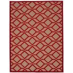 Aloha Red 7 ft. 10 in. x 10 ft. 6 in. Indoor/Outdoor Area Rug