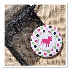 Polka Dot Dog Breed Pocket Mirror. As low as $4