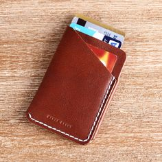 Hot sale Hiram Beron 100% Italian Vegetable tanned leather Ticket holder,credit / business name card holder with luxury package US $35.00