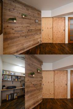 隠し扉のある家。壁だと思ったら扉だった! Small Apartment Hacks, Small Apartments, Small Spaces, Hidden Rooms, Secret Rooms, Living Furniture, House Rooms, Home Projects, Home Remodeling