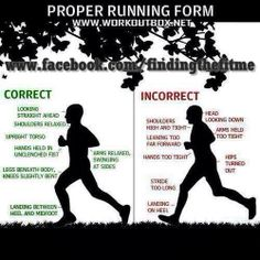 Are you running in the proper form?