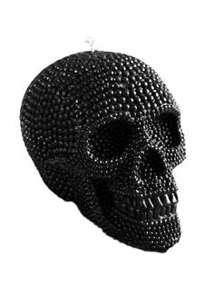 """""""Skull"""" Beeswax Candle by Inked (Black) #InkedShop #InkedMag #Skull #Beeswax #Candle #Black"""