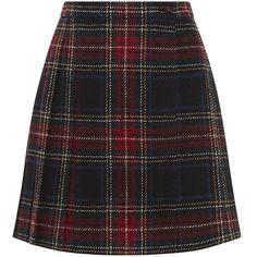 Saint Laurent Tartan Kilt Miniskirt ($1,480) ❤ liked on Polyvore featuring skirts, mini skirts, bottoms, faldas, short plaid skirt, plaid skirt, preppy skirts, mini skirt and short mini skirts