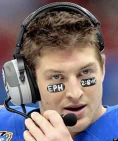 Tim Tebow Wedding | One way Tim Tebow displays his faith is to inscribe Bible verses in ...