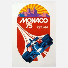 Monaco Grand Prix '75 Lithograph, $99, now featured on Fab.