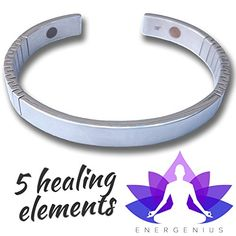 Magnetic Bracelet Arthritis Pain Relief Back Joint Muscle Migraine 5 Element Therapy Negative