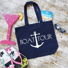 Boat Tour Tote Bag. Boat Bag. Vacation Bag. Cruising Bag. Beach Bag. Organic Cotton Bag. Shopping Bag. Bag For Life. by SoPinkUK on Etsy