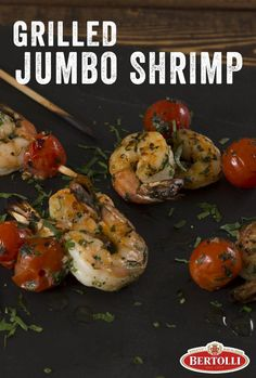 A not-so mumbo Jumbo Shrimp Skewer con Tomatoes: Grilled to Perfezione! Great for parties, super easy to make, and oh so satisfying to any and all finger foodies... including Chef Fabio Viviani!