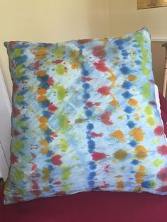 A personal favorite from my Etsy shop https://www.etsy.com/listing/464763907/silk-decorative-pillow-with-shibori