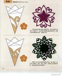 Verschiedene Schneeflocken basteln - Schablonen und Mustern-dekoking-com-2