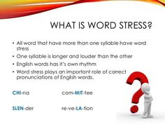 Word Stress | Learn English with Demi