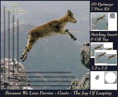 Because We Love Furries Goats The joy of leaping Tag  on Craftsuprint - Add To Basket!