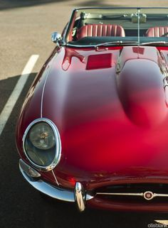 Jaguar E-Type Roadster. Want to see the most beautiful car ever made? Click on link and you won't be disappointed