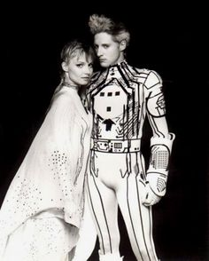 1982 Tron costume-Bruce Boxleitner Pure 80's goodness. Check out his hair!