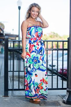 Bold Behavior Maxi Dress, Blue
