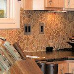 Quartz Mosaic Tile Kitchen Backsplash  pebble tiles cool!