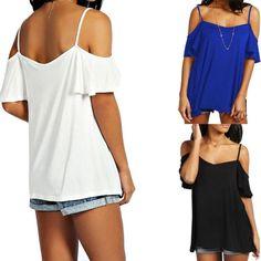 Boho Mujeres Camisas sólido del Hombro Casual Camisetas Blusas Superior De Encaje Blusa Prendas para el torso caliente