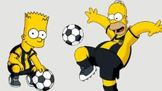 Los Simpson vestirán los colores de uno de los equipos más grandes de Sudamérica.  Peñarol de Uruguay.