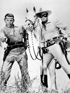 The original Lone Ranger and Tonto played by Clayton Moore and Jay Silverheels