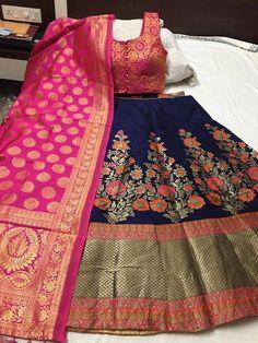 Women's Banarasi Brocade Lehenga Choli With Dupatta Brocade Lehenga, Banarasi Lehenga, Anarkali, Indian Lehenga, Saree Blouse Neck Designs, Lehenga Designs, Indian Designer Outfits, Designer Dresses, Designer Lehanga