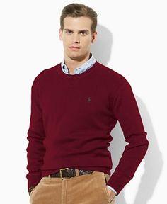 LINE #1366 Polo Ralph Lauren Sweater, Crew Neck Cotton Sweater Web ID: 602091