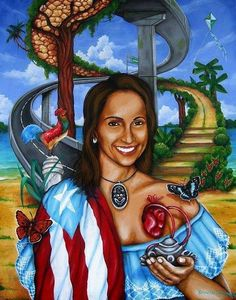 Come and see the art of Reynaldo Rodriguez , He s a Puerto Rican artist livin in Chicago, Come and learn our Culture and see my Art, Mural and see my videos. Puerto Rican Power, Puerto Rican Flag, Puerto Rico Pictures, Puerto Rico History, Puerto Rican Culture, Island Girl, Puerto Ricans, Vintage Travel Posters, Artist Painting